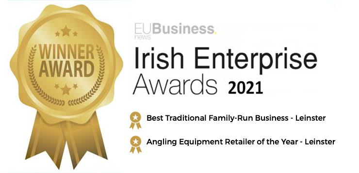 Rorys fishing - Irish enterprise Award Winner Award Badg